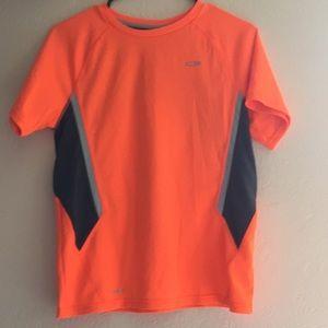 Orange and grey boys dri-fit workout shirt